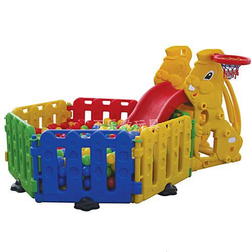 兔宝宝滑梯球池