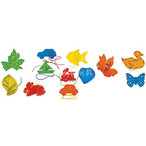 树叶交通动物组合穿线