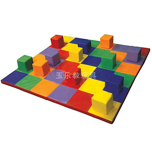 软体方形色彩配对积木