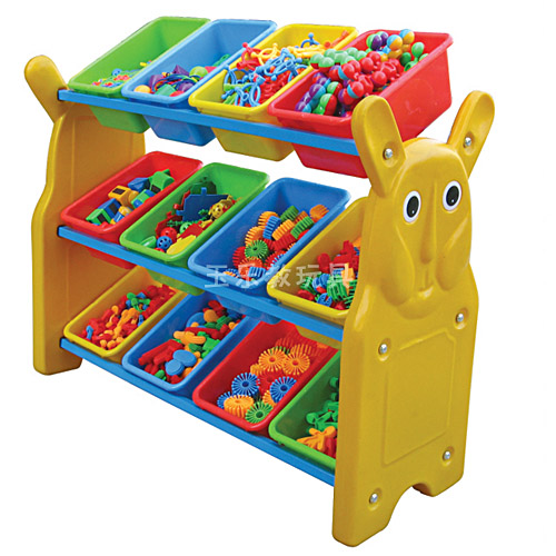 长耳兔玩具分类架