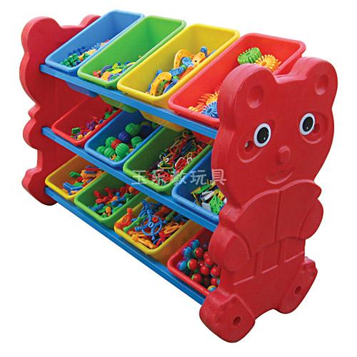 小熊玩具分类架