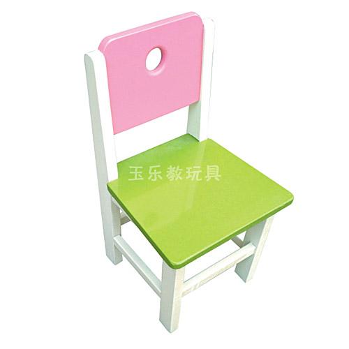 彩色橡木椅