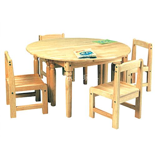 圆形四人桌