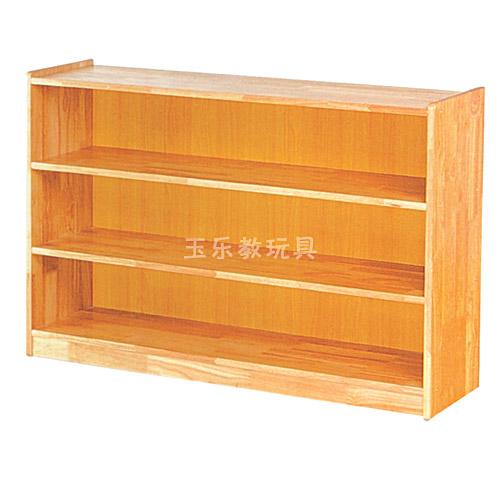 原木教具柜三段